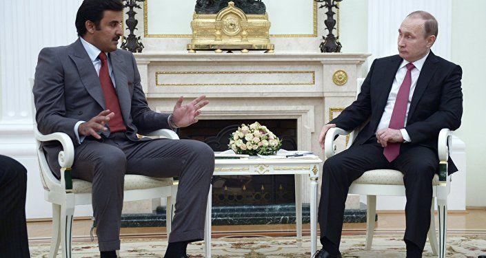 محادثات بين الرئيس الروسي بوتين وأمير قطر في موسكو