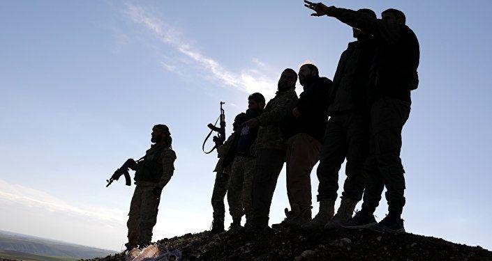 مسلحون موالون لتركيا في منبج السورية