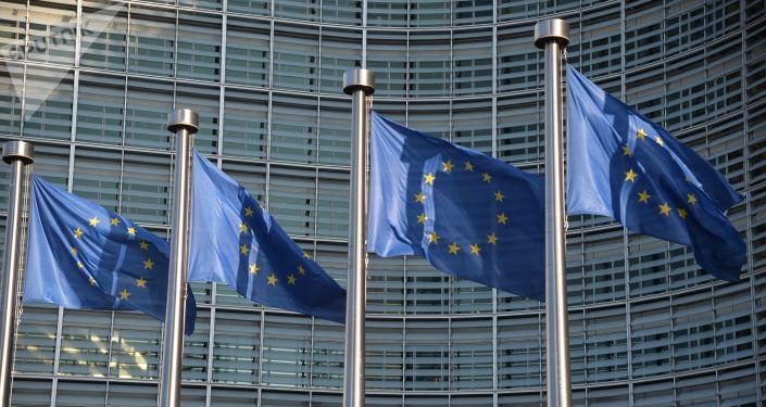 أعلام الاتحاد الأوروبي في بروكسل