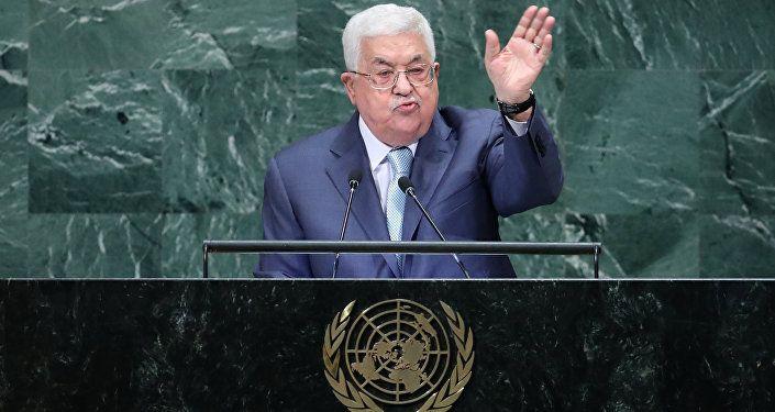 محمود عباس خلال كلمته أمام الجمعية العامة للأمم المتحدة