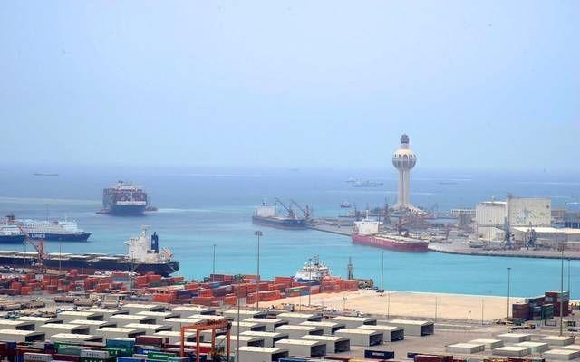 حاويات بضائع بميناء جدة بالسعودية- أرشيفية