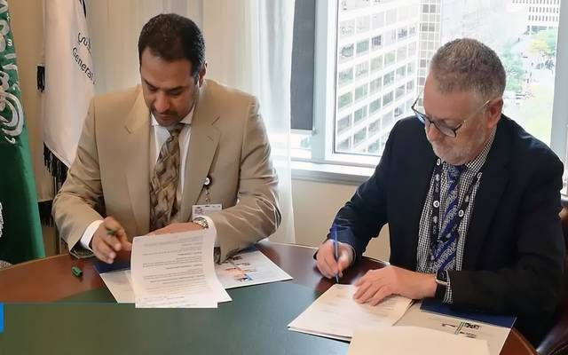 جانب من توقيع المذكرة بين الهيئة العامة للطيران المدني بالسعودية ونظيراتها النيوزيلندية