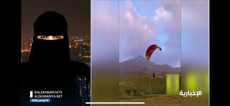 شاهد.. كيف تغلبت أول امرأة تحلق بالطيران الشراعي على حاجز الخوف؟
