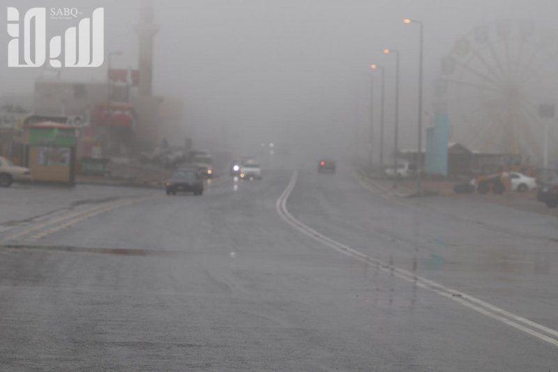 هطول أمطار بين خفيفة إلى متوسطة على شفا الطائف