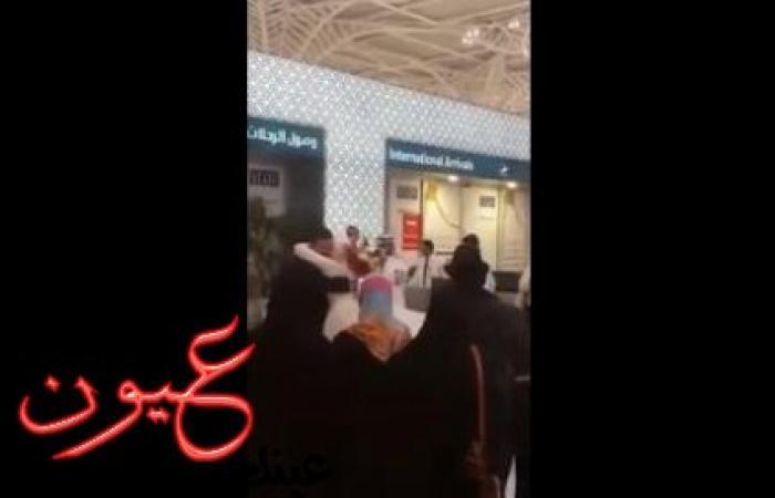 """بالفيديو.. قرار """"صادم"""" للسلطات السعودية بشأن عريس مصري حمل عروسه ورقص بها في مطار المدينة المنورة"""