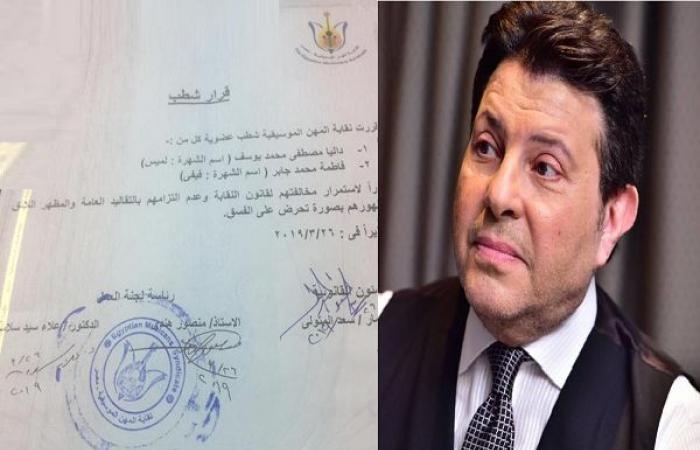 هاني شاكر يحذف عضوتين من النقابة لتقديمهما «أعمال عُري»