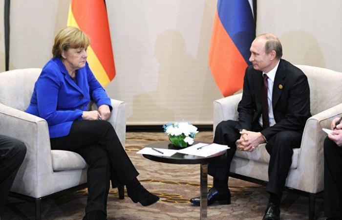 بوتين يبحث مع ميركل وماكرون الوضع في سوريا
