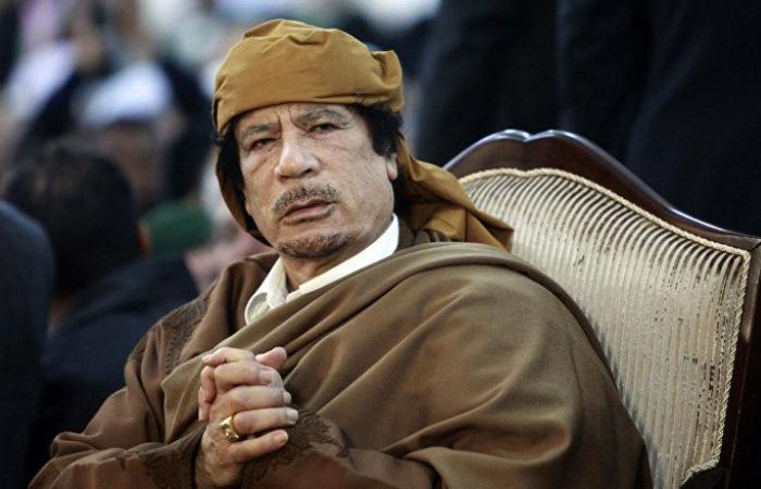 بالفيديو... القذافي يظهر في مقطع نادر