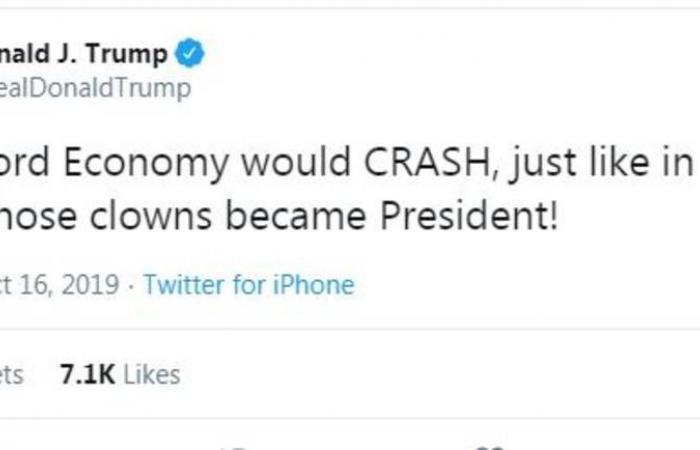 ترامب: الاقتصاد الأمريكي سينهار إذا لم يتم إعادة انتخابي