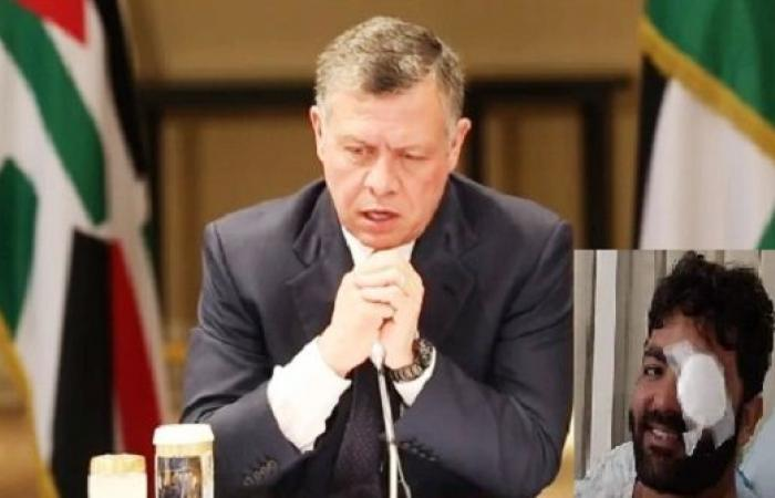 الملك يوجه بمتابعة الحالة الصحية للصحفي الفلسطيني عمارنة