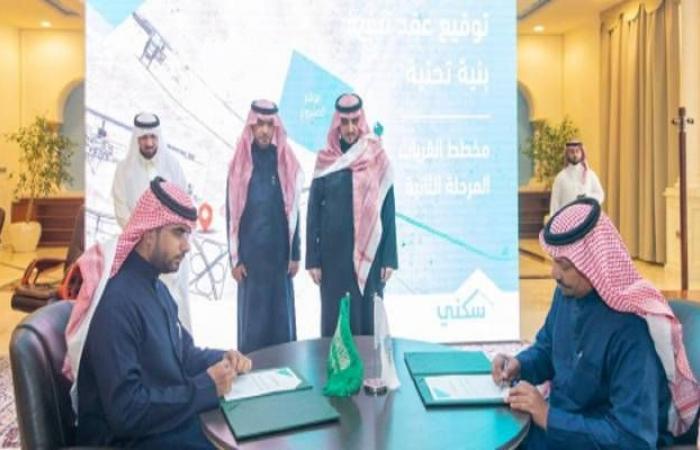 الإسكان السعودية توقع 4 عقود لتنفيذ مشاريع بنية تحتية