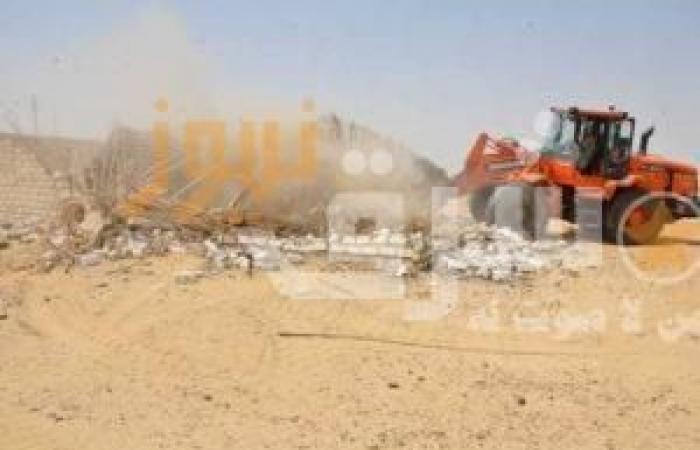 استرداد 1000 فدان بالصحراوى الغربى بمركز ملوى المنيا