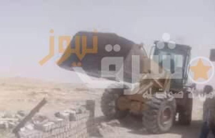 إزالة 24 حالة تعدِ على أراضى أملاك الدولة ببنى مزار فى المنيا