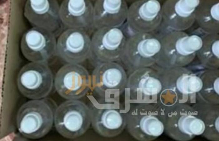ضبط كحول وكمامات مجهولة المصدر ب3 صيدليات في شبرا الخيمة