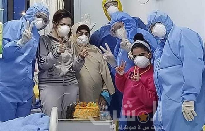 مغادرة أصغر طفلة مستشفى العزل بالإسكندرية بعد تعافيها من كورونا