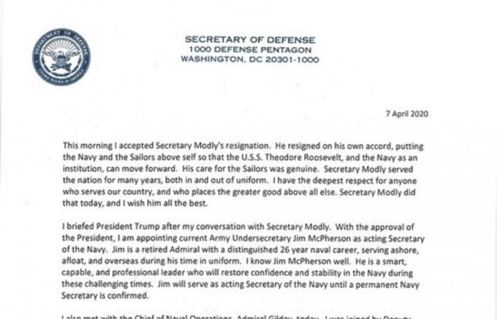 البنتاجون يقبل استقالة وزير البحرية الأمريكي