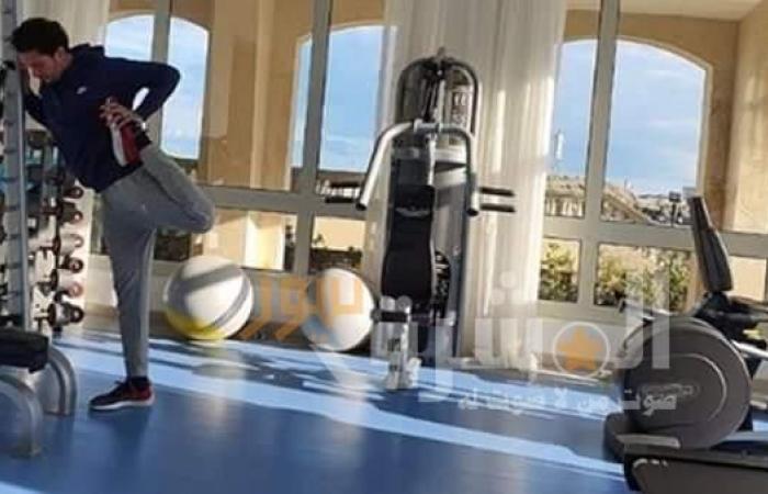 مصاب بكورونا يمارس الرياضة في الحجر الصحي ببنى سويف