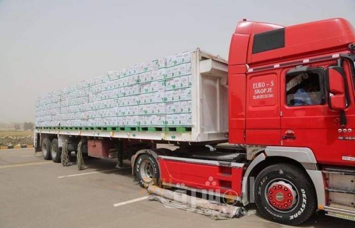 توزيع 1000 كرتونة مواد غذائية بجنوب بورسعيد