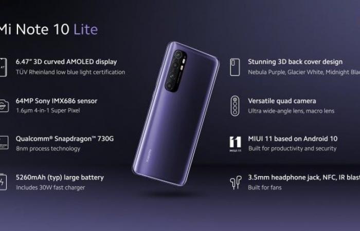 شاومي تعلن رسميًا عن هاتف Mi Note 10 Lite