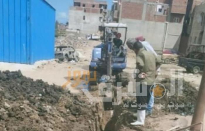 محافظ دمياط توجه باستكمال أعمال الصرف الصحي بمنطقة العدلية