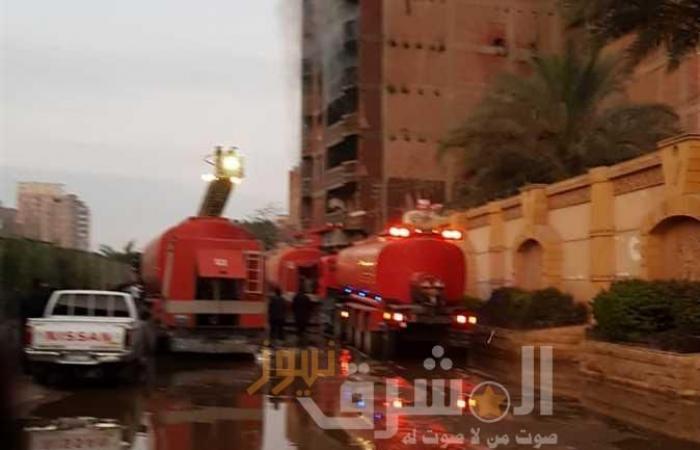 بعد 5 ساعات.. السيطرة على حريق مخزن نجف ميت نما وخسائر مبدئية 20 مليون جنيه