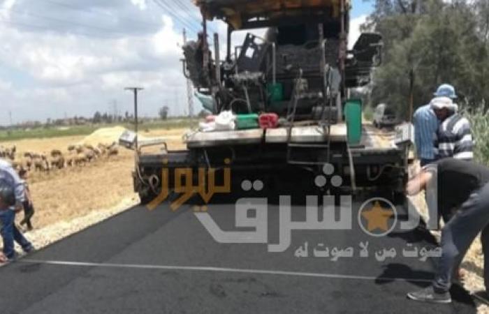 الانتهاء من رصف طريق عطية أحمد عطية بالإسماعيلية