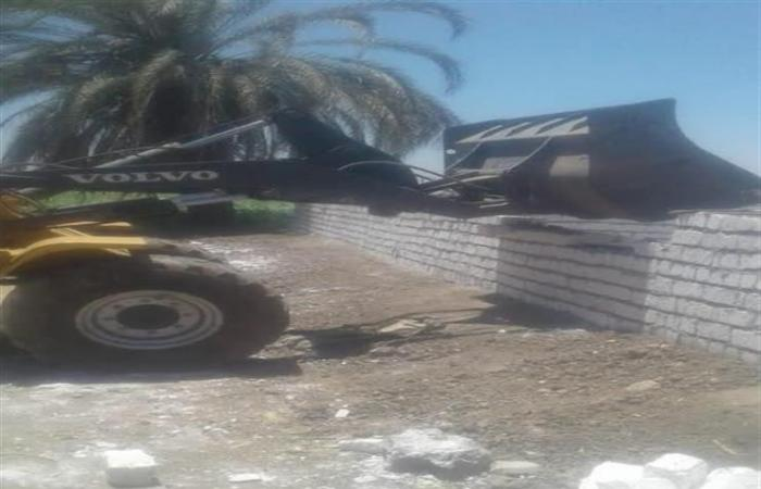 إزالة 43 حالة لتعديات على أملاك الدولة والأراضي الزراعية في المنيا