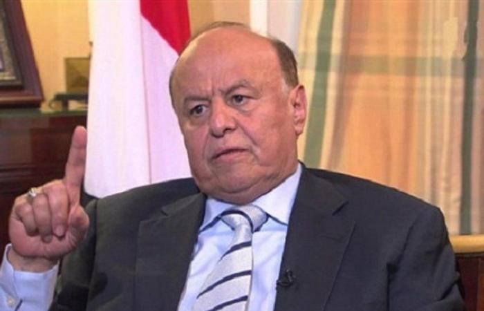 """""""هادي"""" يجدّد تمسكه بخيارات السلام لحقن دماء اليمنيين"""