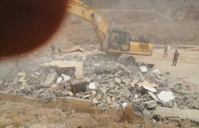 """""""لجنة عسير"""" تستعيد 7 مواقع تم الاعتداء عليها بعقبة ضلع ووادي قرضة"""
