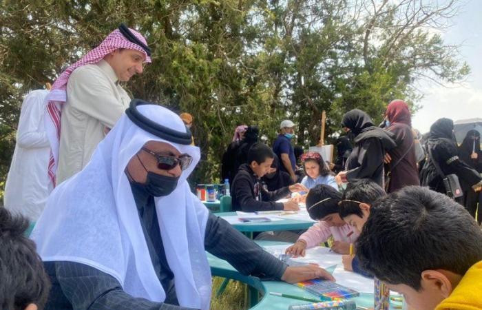 برنامج احتفائي وإثرائي لأبناء الهمة بتعليم عسير بمنتزه الجرة السياحي