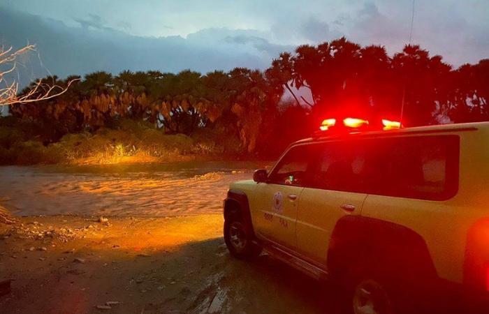 """""""أمطار جازان"""" تتواصل منذ الأمس والدفاع المدني يجدد تحذيراته"""