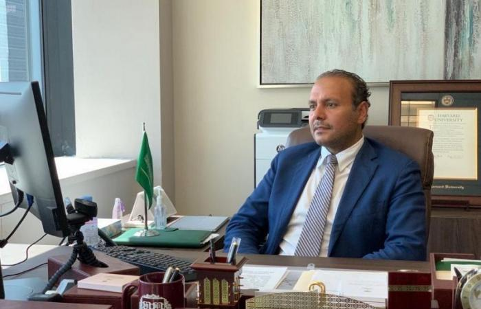 """""""منزلاوي"""" يؤكد وقوف المملكة إلى جانب لبنان وشعبها لتجاوز آثار انفجار المرفأ"""