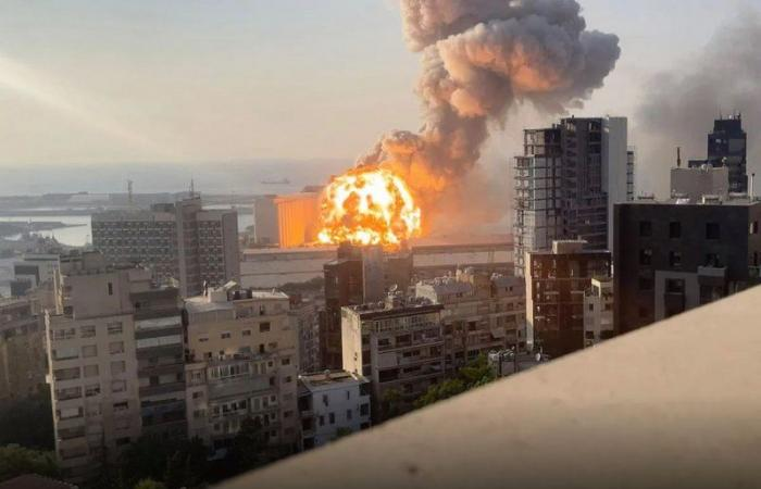 فيديو لم تره من قبل لانفجار بيروت بالتصوير البطيء.. تفاصيل جديدة