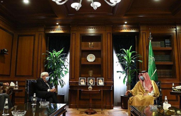 """""""الجبير """" يستقبل مبعوث الأمين العام للأمم المتحدة لليمن"""