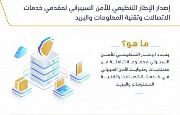 """""""الاتصالات"""" تعتمد الإطار التنظيمي للأمن السيبراني لمقدمي الخدمات"""