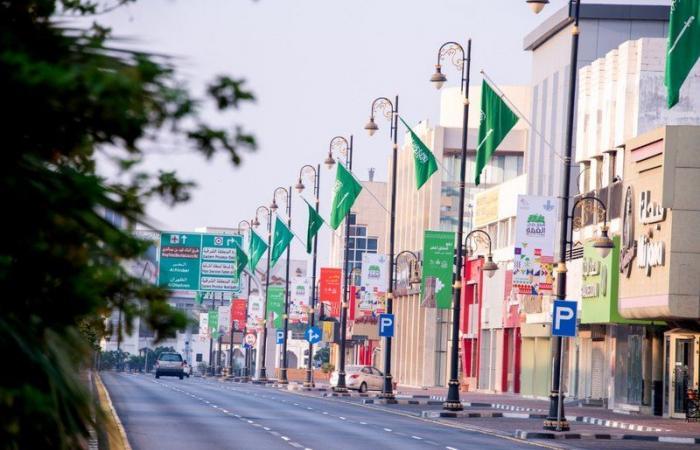 شاهد.. 5 آلاف علم سعودي تزيّن مدن الشرقية في اليوم الوطني