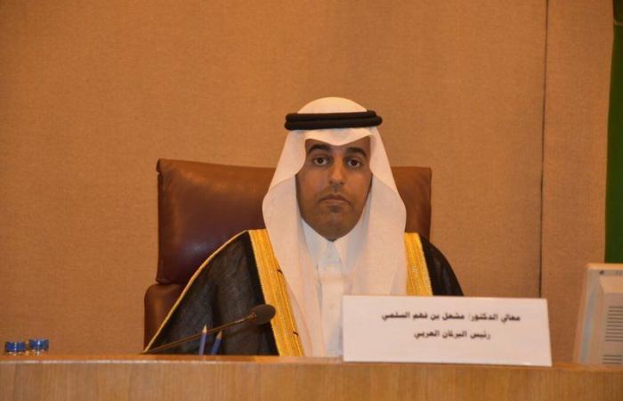 البرلمان العربي يندد باستهداف مليشيا الحوثي إحدى القرى الحدودية بجازان