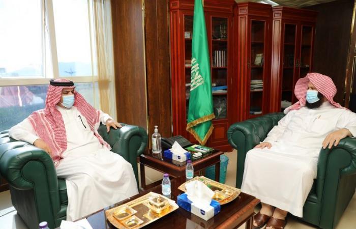 مدير الشؤون الإسلامية بنجران يستقبل أمين المنطقة