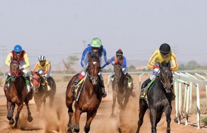 """""""محيص"""" لمالكه """"الهمزاني"""" يتوج بشوط الكأس الرئيسي بأول سباقات الفروسية بحائل"""