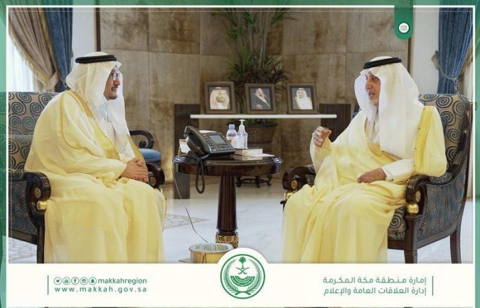 """""""الفيصل"""" يستقبل وزير التعليم ويطلع على خطط الوزارة في مكة"""