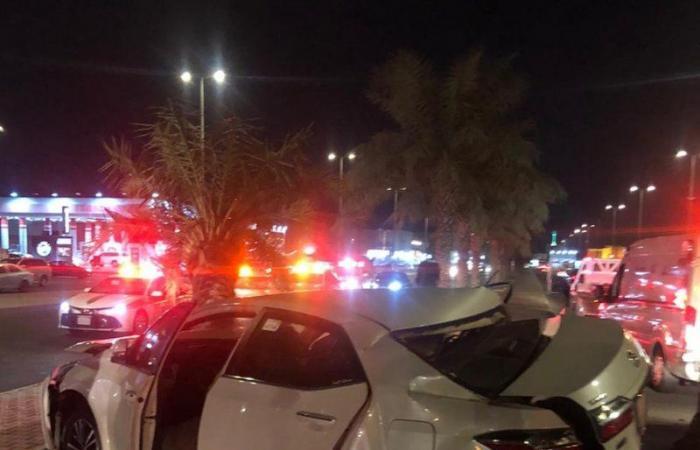 """إصابة 6 أشخاص في حادث تصادم بـ""""شرائع مكة"""""""