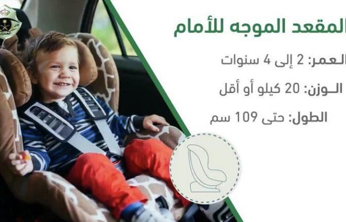 تعرَّف على المقاعد الأربعة المخصصة للأطفال.. المرور يكشف التفاصيل وفقًا للمادة الـ57