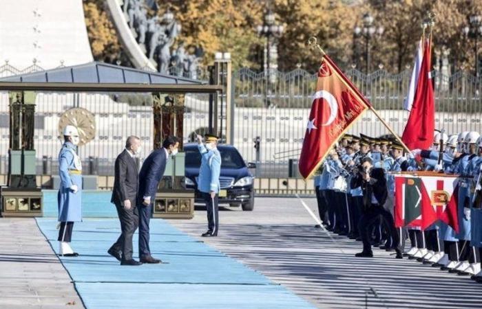 شاهد .. أمير قطر ينحني للعلم التركي في أنقرة ويثير السخرية