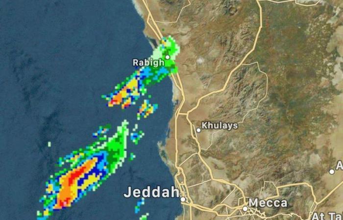 #سقيا تُسجل حضورها.. وصور الرادار تكشف خريطة 96 ساعة ومناطقها
