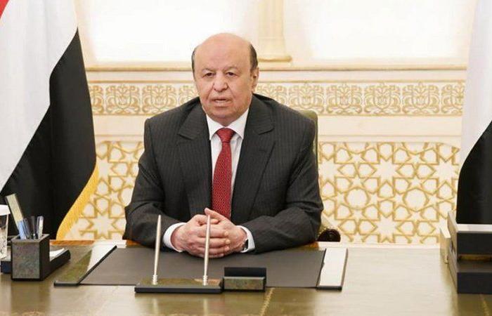 الرئيس اليمني يتعهد بمواصلة المسار الآمن بتنفيذ اتفاق الرياض ووحدة الصف