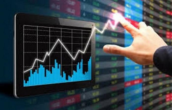 سوق الأسهم يغلق مرتفعاً عند 8،708.59 نقطة