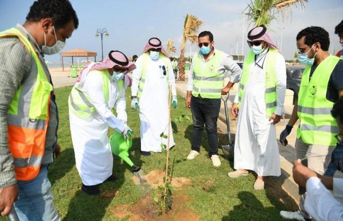 100 متطوع يشاركون أمانة جازان في تنظيف الشواطئ