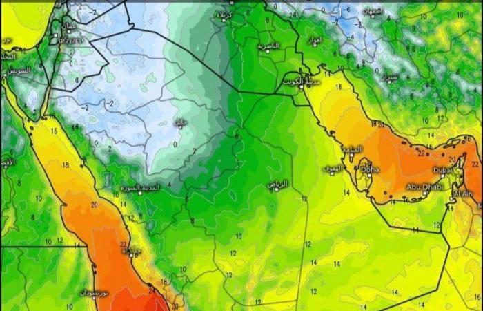 """""""الجمعان"""": موجة باردة قادمة هي الأبرد منذ بدء شتاء العام الحالي"""