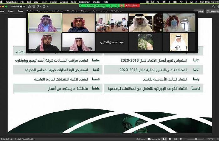 """بمشاركة 125 عضواً.. انعقاد أول جمعية عمومية للاتحاد السعودي للإعلام الرياضي """" عن بُعد """""""