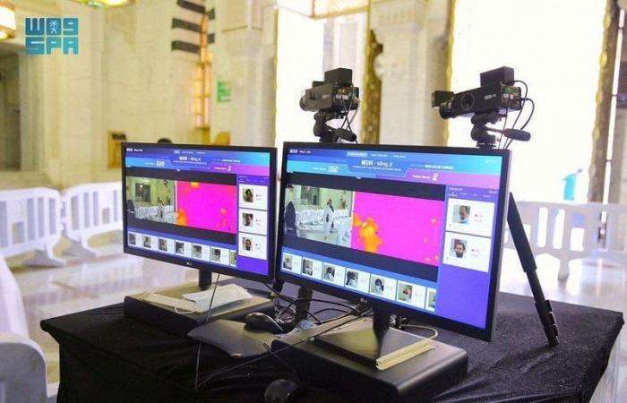 70 كاميرا حرارية لرصد حرارة المعتمرين بالمسجد الحرام